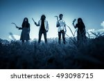 group of stranger people with... | Shutterstock . vector #493098715