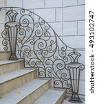 Staircase With Pattern Wrought...