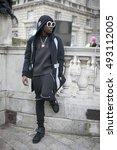 london   february 18  man in... | Shutterstock . vector #493112005