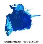 blur abstract blue paint   Shutterstock . vector #493115029