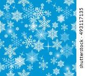 snowflake vector pattern. | Shutterstock .eps vector #493117135