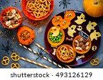 traditional snack for halloween ...   Shutterstock . vector #493126129