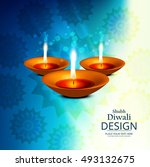 abstarct happy diwali background | Shutterstock .eps vector #493132675