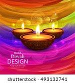 abstarct happy diwali background | Shutterstock .eps vector #493132741