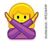 vector girl with no good... | Shutterstock .eps vector #493136449