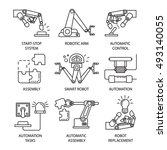 isolated black assembly line... | Shutterstock .eps vector #493140055