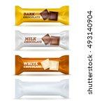 set of four similar isolated... | Shutterstock .eps vector #493140904