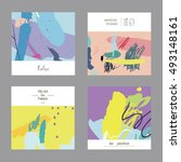 vector set of creative... | Shutterstock .eps vector #493148161