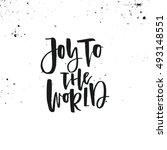 joy to the world vector... | Shutterstock .eps vector #493148551