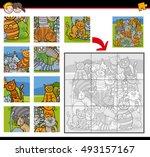 cartoon illustration of... | Shutterstock .eps vector #493157167