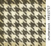 A sketched or worn looking hounds tooth pattern that tiles seamlessly in any direction. - stock photo