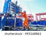 offshore oil and gas industry ... | Shutterstock . vector #493168861