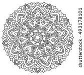 round outline mandala for... | Shutterstock .eps vector #493178101