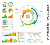 infographics set with color... | Shutterstock .eps vector #493183585