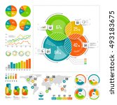 infographics set with color... | Shutterstock .eps vector #493183675