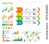 infographics set with color... | Shutterstock .eps vector #493183681