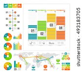 infographics set with color... | Shutterstock .eps vector #493183705