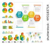 infographics set with color... | Shutterstock .eps vector #493183714