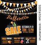 halloween sale bunting and... | Shutterstock .eps vector #493191031