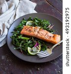 roasted salmon or trout with...