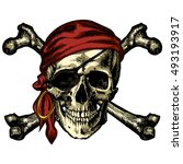 Pirate Skull And Crossbones...