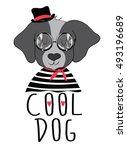 cute dog vector animal... | Shutterstock .eps vector #493196689