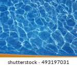 blue water in a swimming pool | Shutterstock . vector #493197031