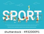 sport concept illustration of... | Shutterstock .eps vector #493200091