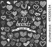 hand drawn big collection of... | Shutterstock .eps vector #493200154