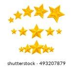 stars icons set illustration....   Shutterstock . vector #493207879
