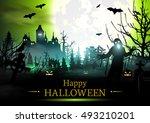 halloween. | Shutterstock .eps vector #493210201