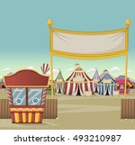 ticket booth on the entrance of ... | Shutterstock .eps vector #493210987