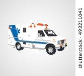 first aid vector car van icon ... | Shutterstock .eps vector #493211041