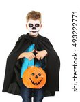 Little Boy In Halloween Costum...