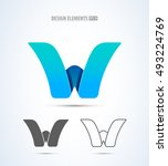 vector abstract letter w logo... | Shutterstock .eps vector #493224769