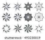 graphical symbols in the form... | Shutterstock .eps vector #493230019