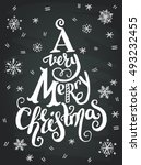 'a very merry christmas'... | Shutterstock .eps vector #493232455
