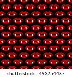 vampire lips scary halloween... | Shutterstock .eps vector #493254487