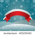 banner for your design. red... | Shutterstock .eps vector #493255435