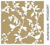 laser cut decorative pattern...   Shutterstock .eps vector #493260397