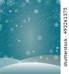 vertical winter background for... | Shutterstock .eps vector #493261375