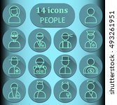 14 images of people. logos ... | Shutterstock .eps vector #493261951
