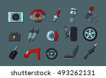 infographic template with car... | Shutterstock .eps vector #493262131