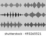 set of sound and audio music... | Shutterstock .eps vector #493265521