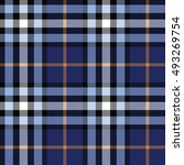 plaid  tartan  pattern. navy... | Shutterstock .eps vector #493269754