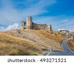 enisala  ruins of ancient... | Shutterstock . vector #493271521