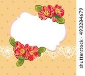 spring floral vector vintage...   Shutterstock .eps vector #493284679