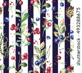 seamless pattern with wild... | Shutterstock . vector #493288675