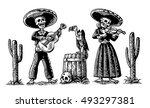 day of the dead  dia de los... | Shutterstock .eps vector #493297381