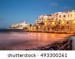 night view of vieste   main...   Shutterstock . vector #493300261